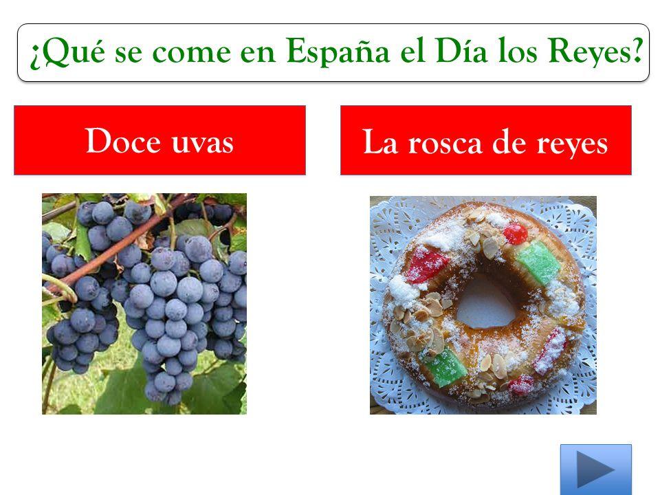 ¿Qué se come en España el Día los Reyes Doce uvas La rosca de reyes