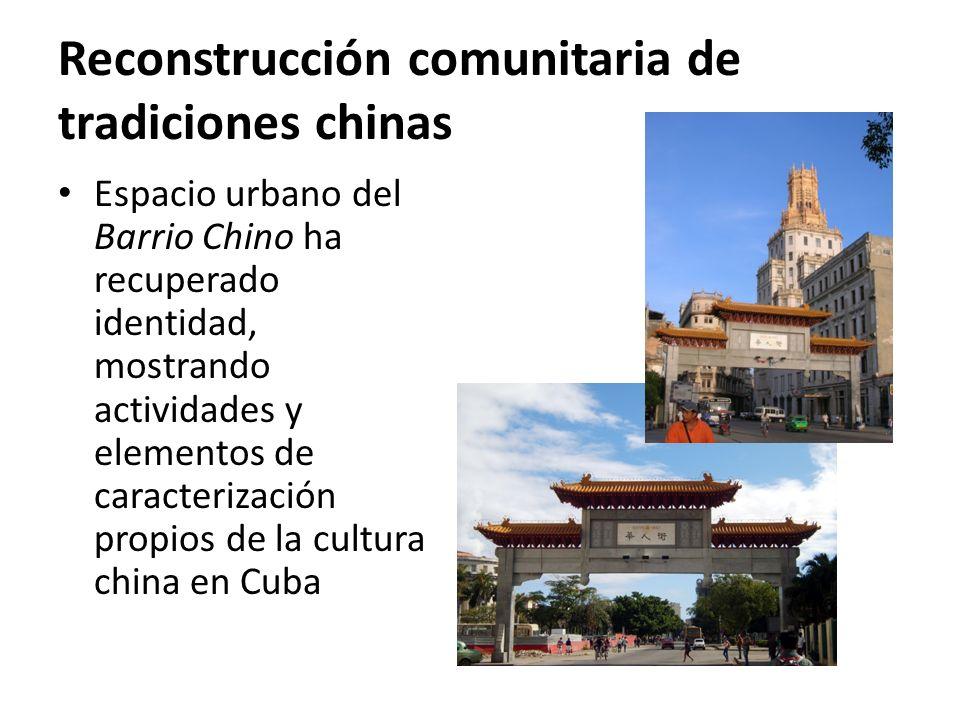 Reconstrucción comunitaria de tradiciones chinas Espacio urbano del Barrio Chino ha recuperado identidad, mostrando actividades y elementos de caracterización propios de la cultura china en Cuba