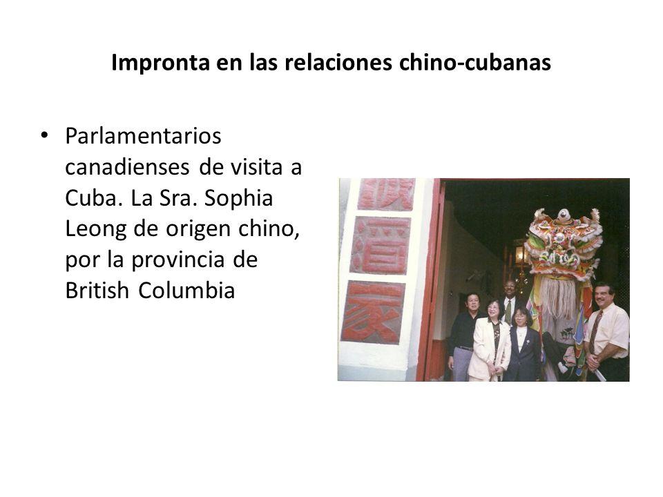 Impronta en las relaciones chino-cubanas Parlamentarios canadienses de visita a Cuba.