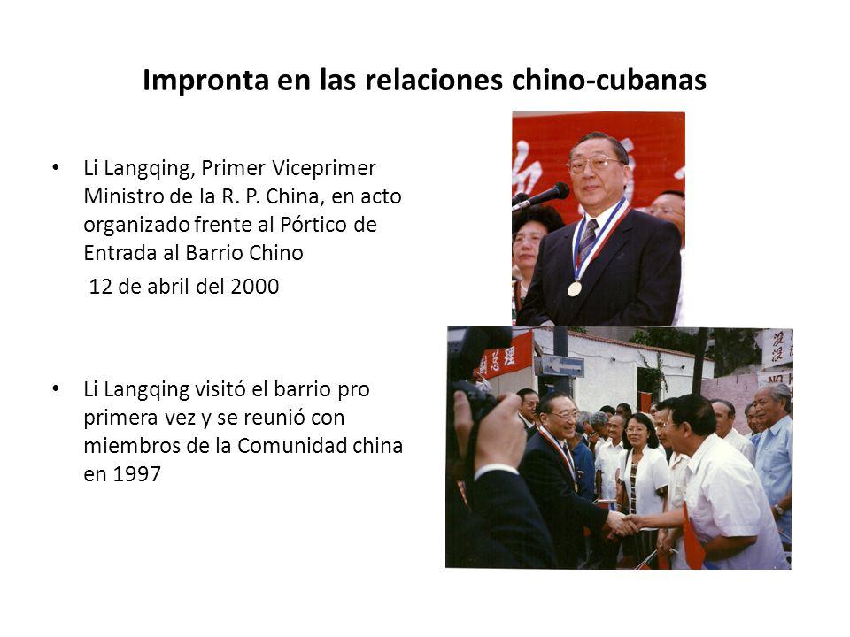 Impronta en las relaciones chino-cubanas Li Langqing, Primer Viceprimer Ministro de la R.