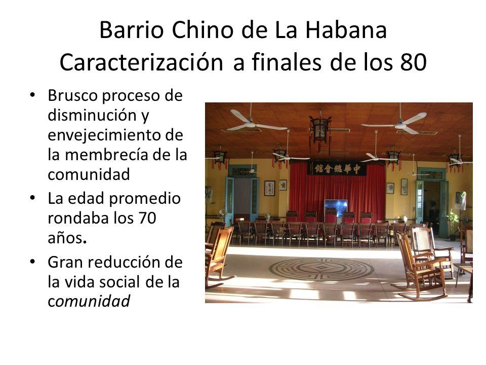 Barrio Chino de La Habana Caracterización a finales de los 80 La imagen del lugar va cambiando en correspondencia con los cambios que operan en lo económico y lo social Proceso de franco deterioro del estado físico de la zona