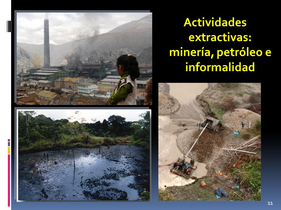 11 Actividades extractivas: minería, petróleo e informalidad