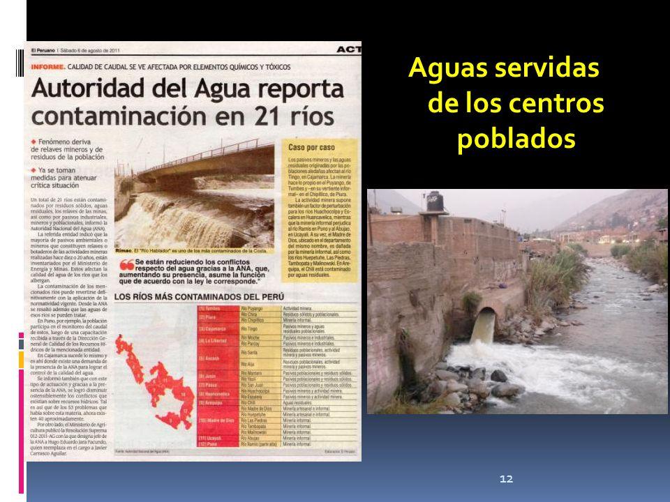 12 Aguas servidas de los centros poblados