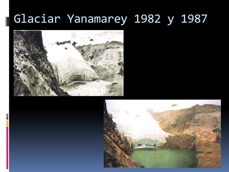 Glaciar Yanamarey 1982 y 1987