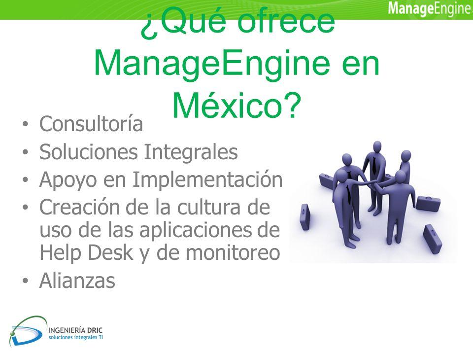 ¿Qué ofrece ManageEngine en México.