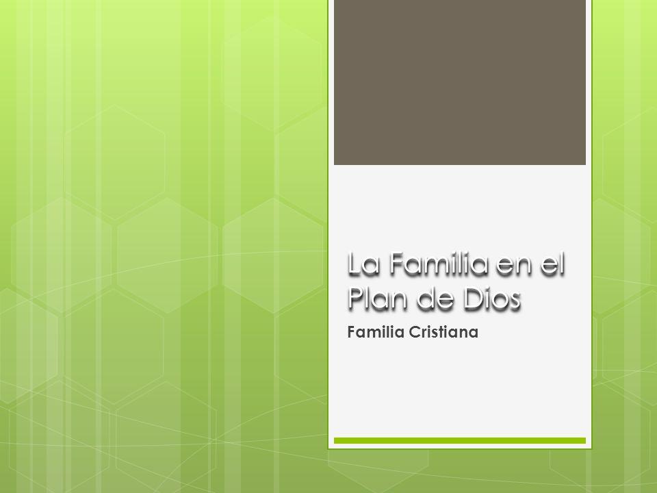 La Familia en el Plan de Dios Familia Cristiana