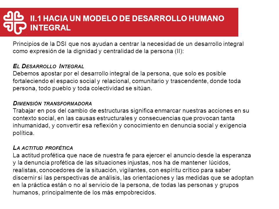 Principios de la DSI que nos ayudan a centrar la necesidad de un desarrollo integral como expresión de la dignidad y centralidad de la persona (II): E