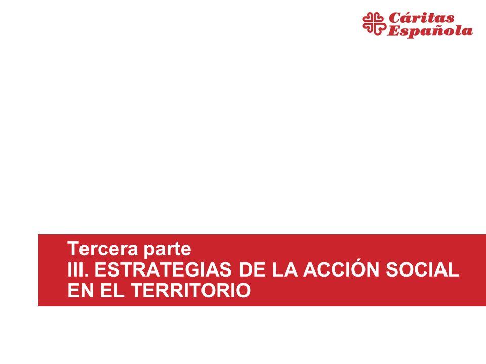 Tercera parte III. ESTRATEGIAS DE LA ACCIÓN SOCIAL EN EL TERRITORIO