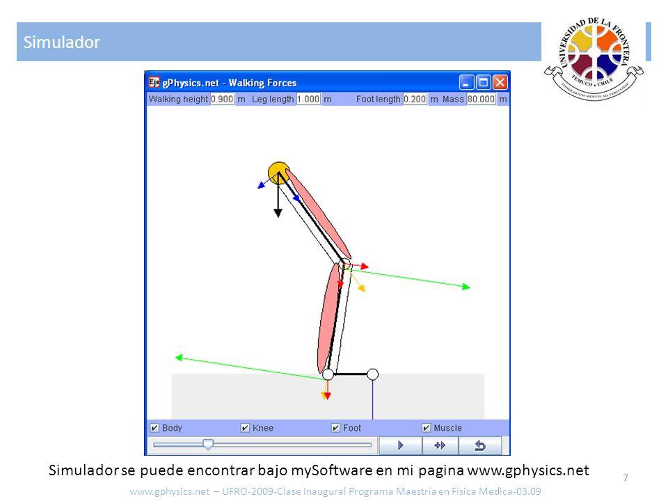 Simulador 7 www.gphysics.net – UFRO-2009-Clase Inaugural Programa Maestría en Física Medica-03.09 Simulador se puede encontrar bajo mySoftware en mi p