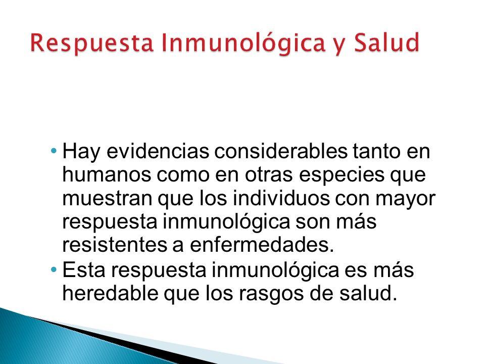 Hay evidencias considerables tanto en humanos como en otras especies que muestran que los individuos con mayor respuesta inmunológica son más resistentes a enfermedades.