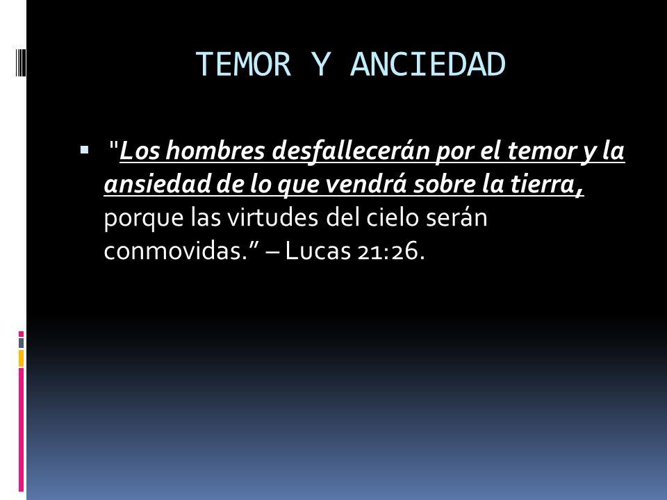 TEMOR Y ANCIEDAD
