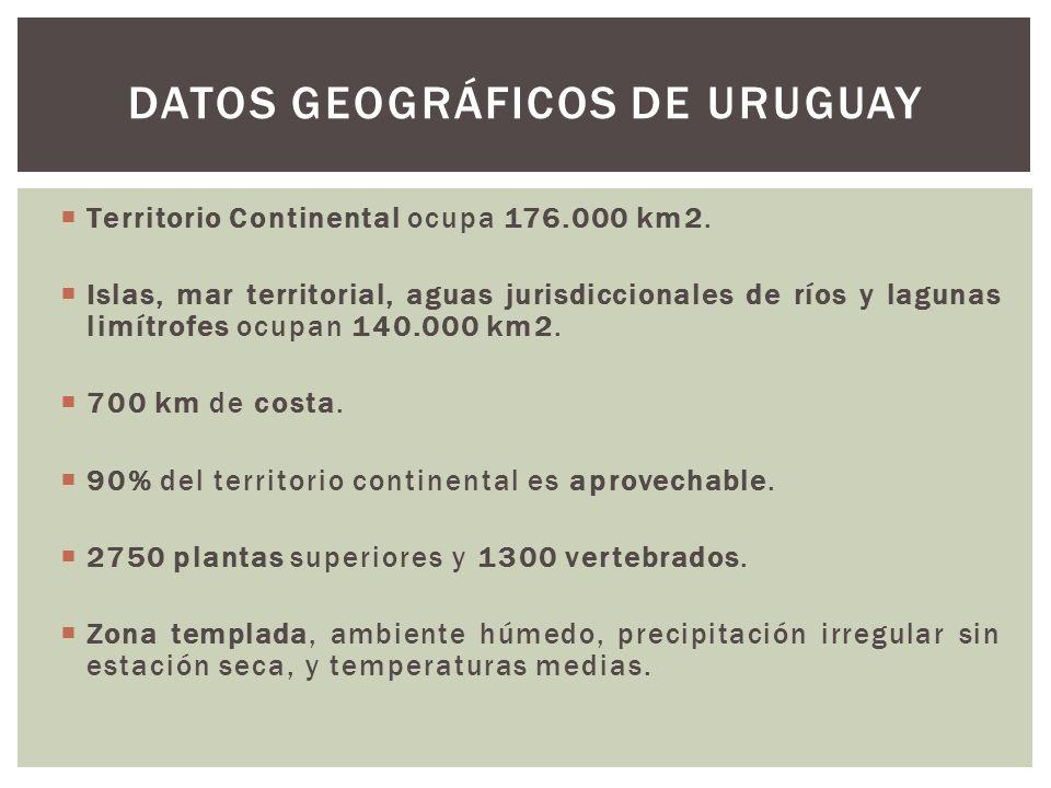 Territorio Continental ocupa 176.000 km2. Islas, mar territorial, aguas jurisdiccionales de ríos y lagunas limítrofes ocupan 140.000 km2. 700 km de co