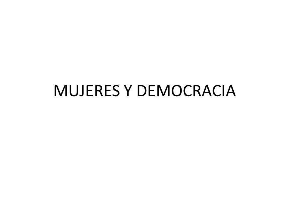 MUJERES Y DEMOCRACIA
