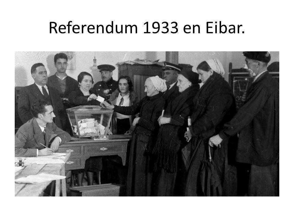 Referendum 1933 en Eibar.