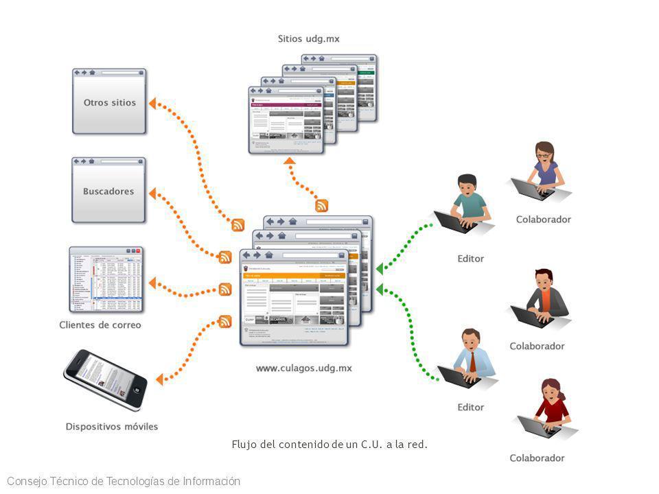 Flujo del contenido de un C.U. a la red. Consejo Técnico de Tecnologías de Información