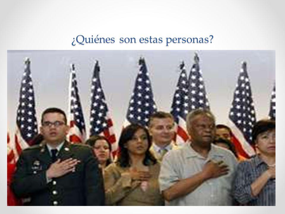 Estas personas son ciudadanos. Ellos respetan los principios de los Estados Unidos.