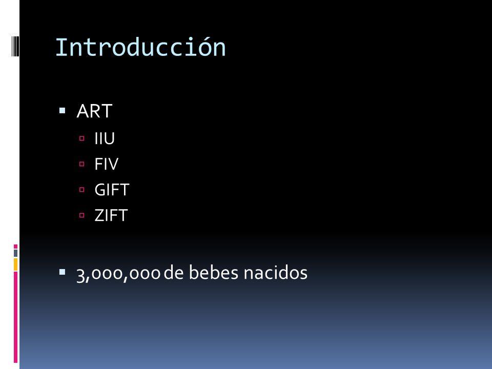 Introducción ART IIU FIV GIFT ZIFT 3,000,000 de bebes nacidos