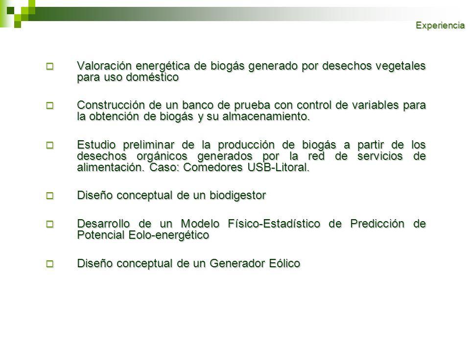 Valoración energética de biogás generado por desechos vegetales para uso doméstico Valoración energética de biogás generado por desechos vegetales par