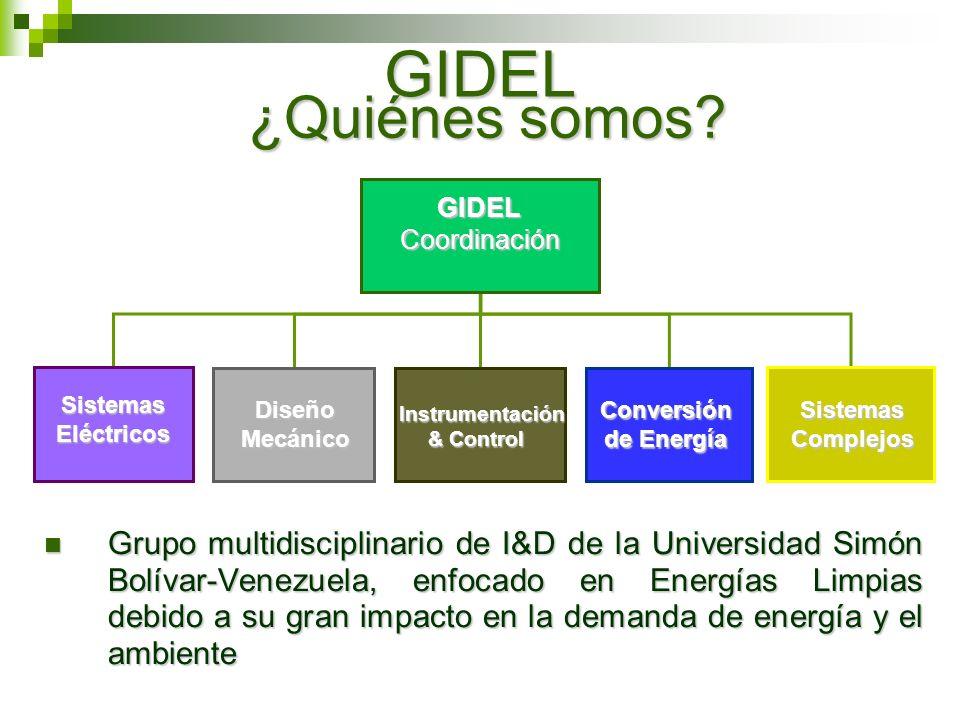 GIDEL Grupo multidisciplinario de I&D de la Universidad Simón Bolívar-Venezuela, enfocado en Energías Limpias debido a su gran impacto en la demanda d