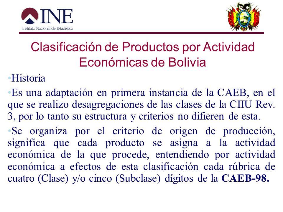 Clasificación de Actividades Económicas de Bolivia NIVEL NOMBRE NUMERO CÓDIGO Primer nivel Categoría de Tabulación 17 Partidas Alfabético 1 digito Seg