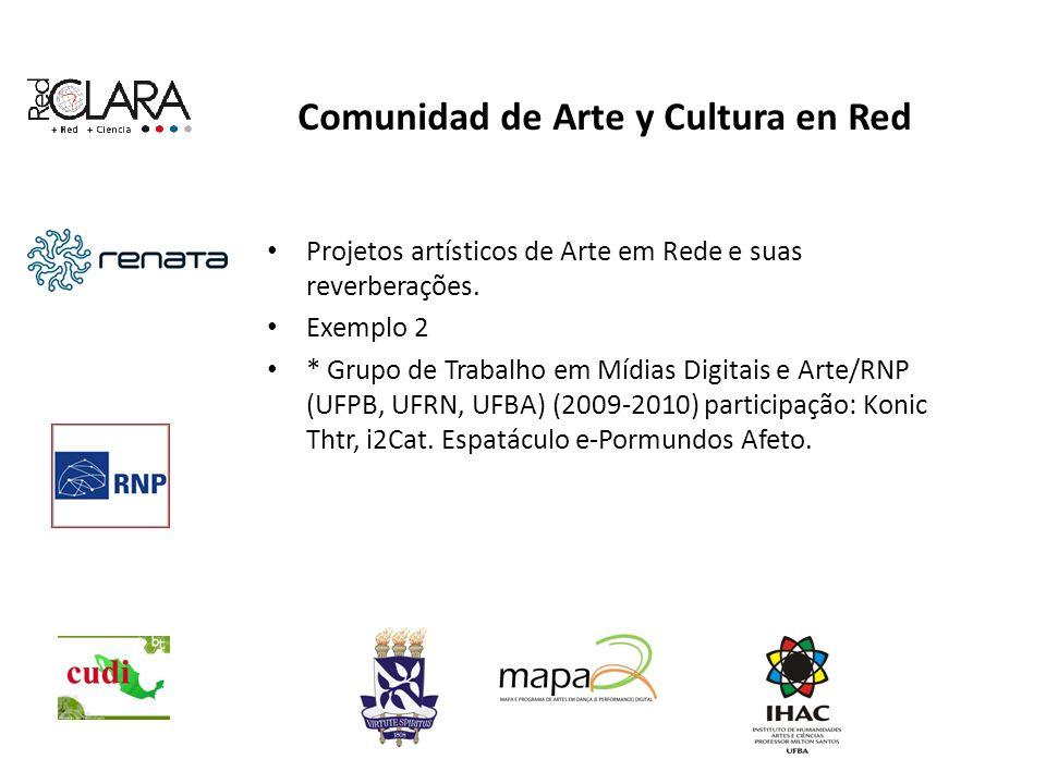 Comunidad de Arte y Cultura en Red Projetos artísticos de Arte em Rede e suas reverberações.