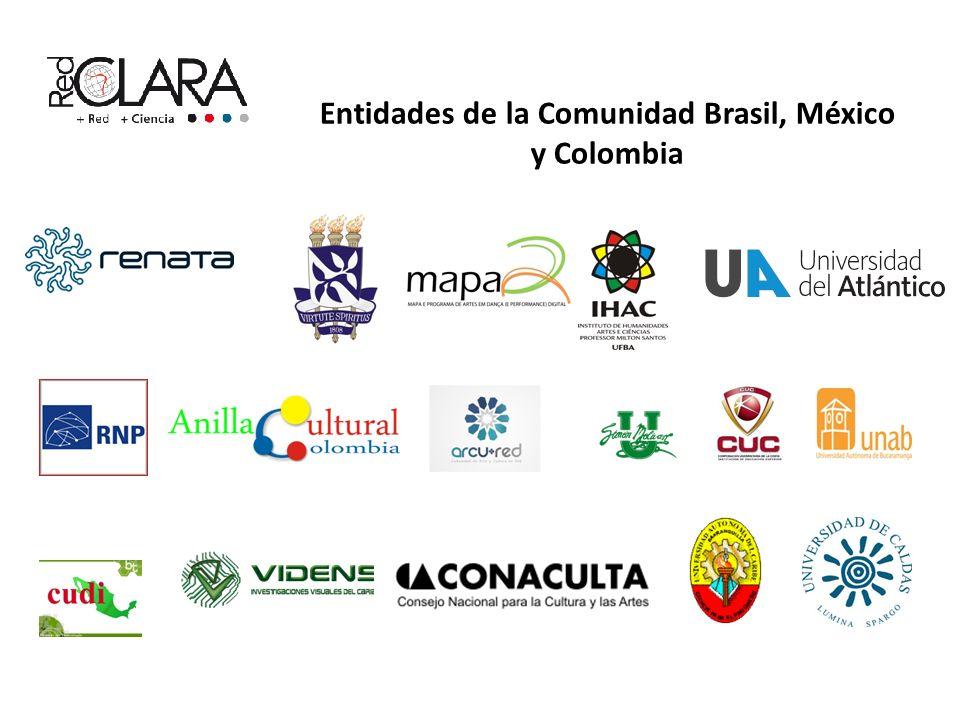 Entidades de la Comunidad Brasil, México y Colombia