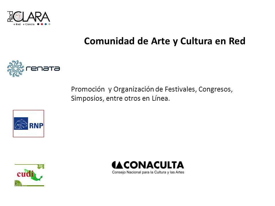 Comunidad de Arte y Cultura en Red Promoción y Organización de Festivales, Congresos, Simposios, entre otros en Línea.