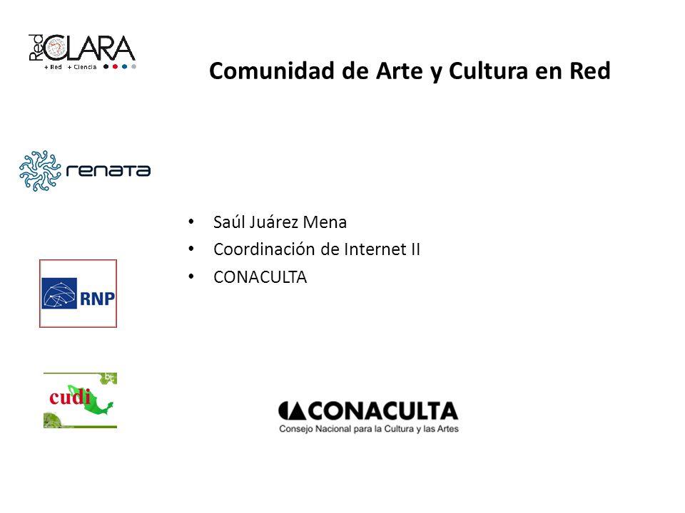 Comunidad de Arte y Cultura en Red Saúl Juárez Mena Coordinación de Internet II CONACULTA