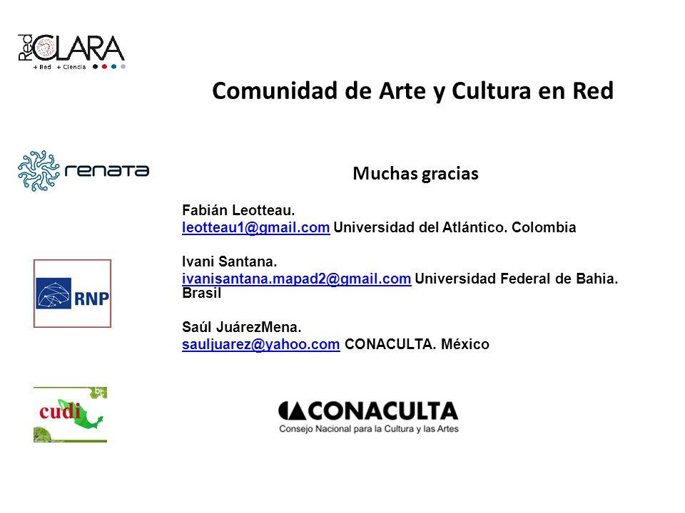 Muchas gracias Fabián Leotteau. leotteau1@gmail.comleotteau1@gmail.com Universidad del Atlántico. Colombia Ivani Santana. ivanisantana.mapad2@gmail.co