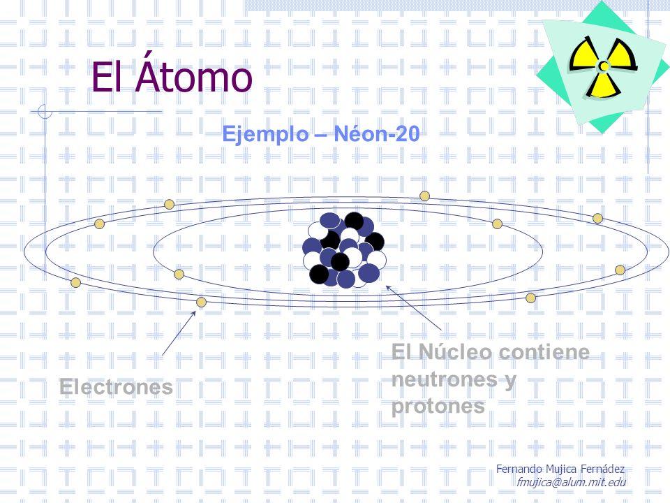 Fernando Mujica Fernádez fmujica@alum.mit.edu Radiación ionizante Comentario final La vida en la Tierra se ha desarrollado siempre con la radiación natural de fondo.