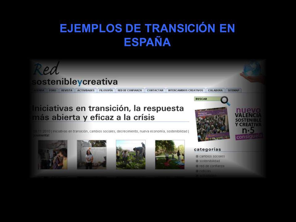 EJEMPLOS DE TRANSICIÓN EN ESPAÑA