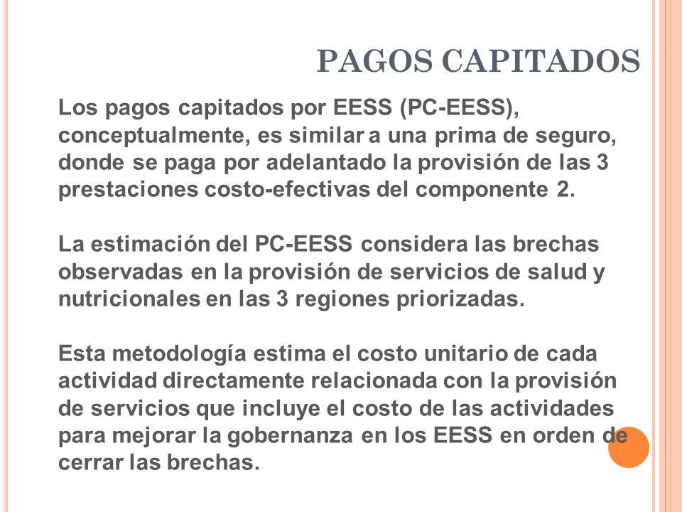 Los pagos capitados por EESS (PC-EESS), conceptualmente, es similar a una prima de seguro, donde se paga por adelantado la provisión de las 3 prestaci