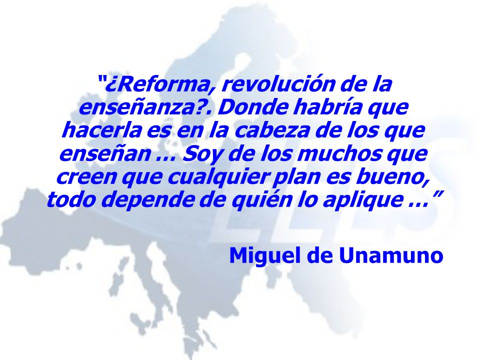 ¿Reforma, revolución de la enseñanza .