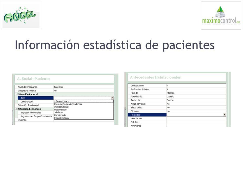 Información estadística de pacientes