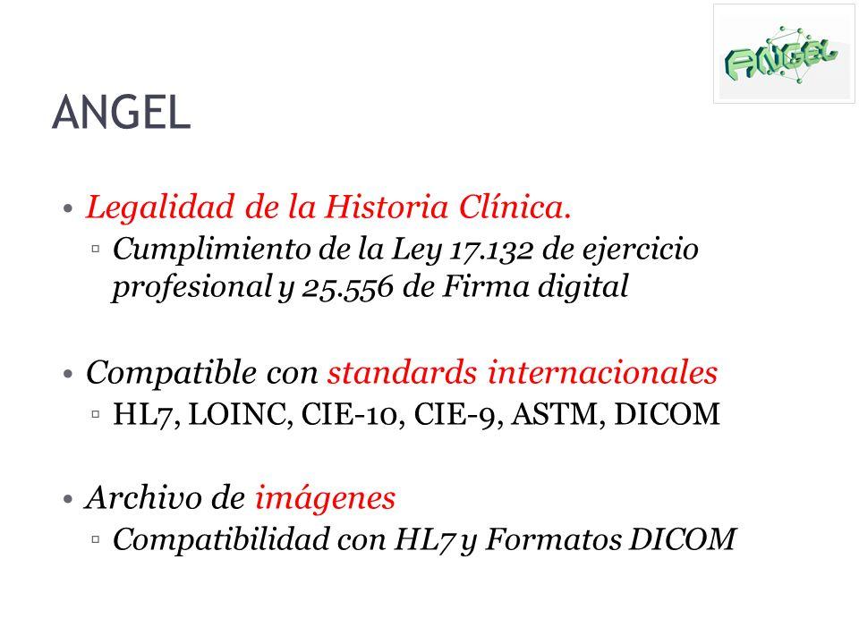 Legalidad de la Historia Clínica. Cumplimiento de la Ley 17.132 de ejercicio profesional y 25.556 de Firma digital Compatible con standards internacio