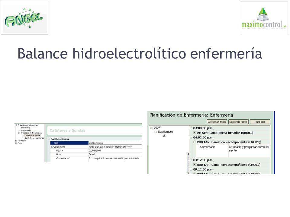 Balance hidroelectrolítico enfermería