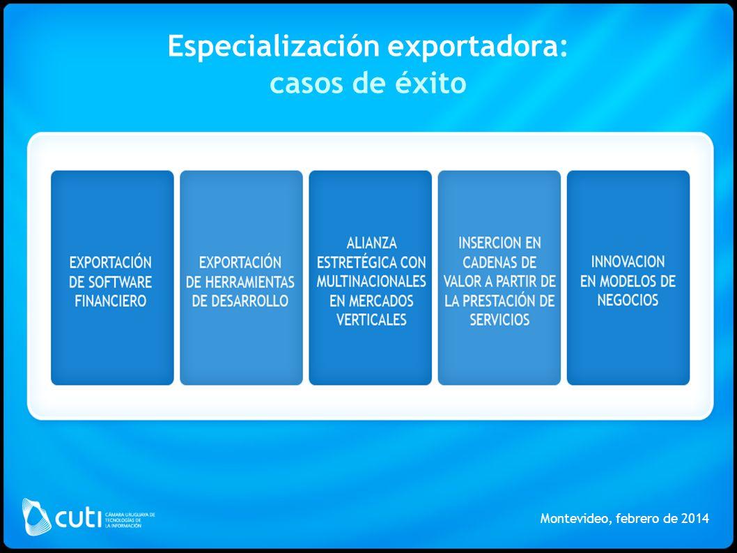 Especialización exportadora: casos de éxito Montevideo, febrero de 2014