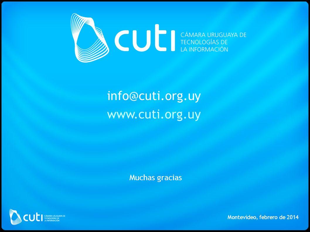 info@cuti.org.uy www.cuti.org.uy Muchas gracias Montevideo, febrero de 2014