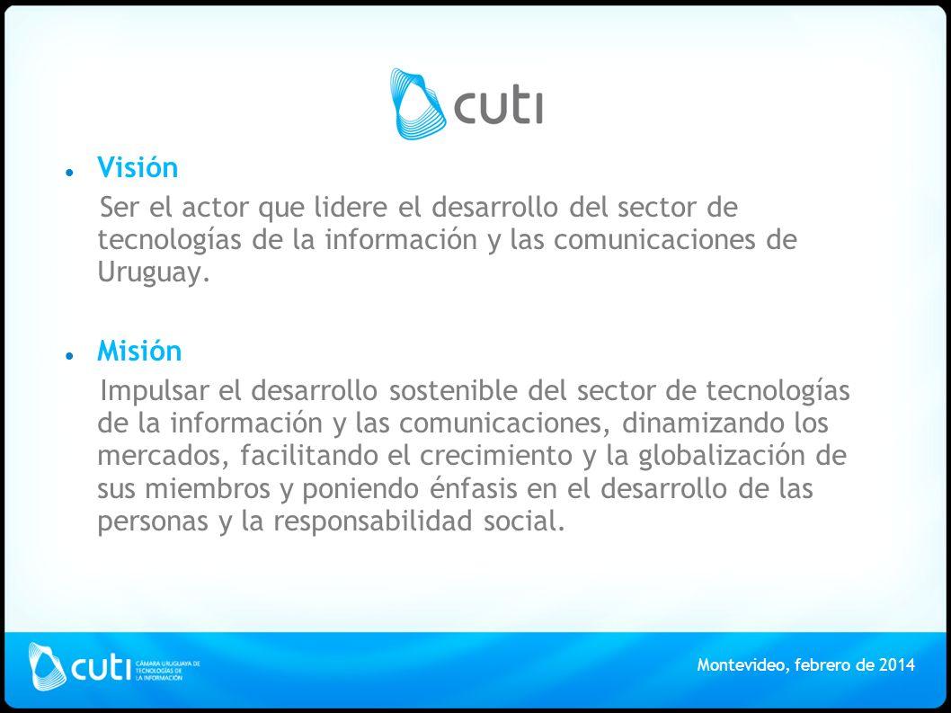 Visión Ser el actor que lidere el desarrollo del sector de tecnologías de la información y las comunicaciones de Uruguay.