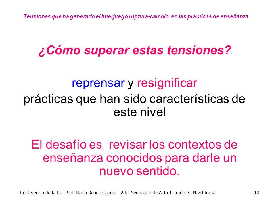 Conferencia de la Lic.Prof. María Renée Candia - 2do.