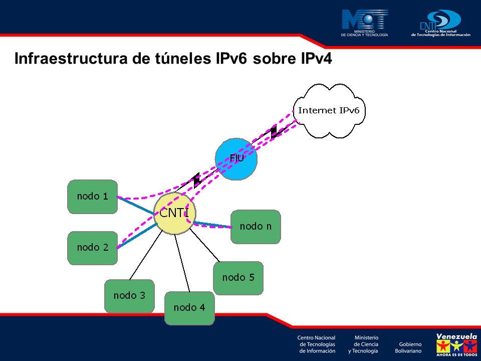 Infraestructura de túneles IPv6 sobre IPv4