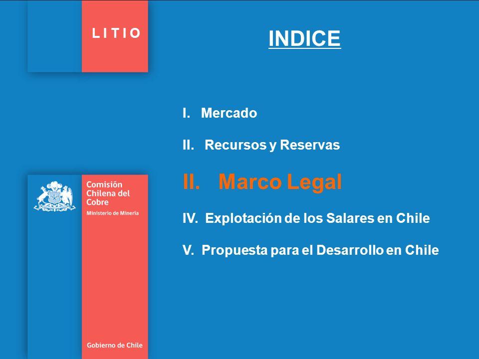 Marco Jurídico Actual 17 Gobierno de Chile | Comisión Chilena del Cobre L I T I O Código de Minería (1932).