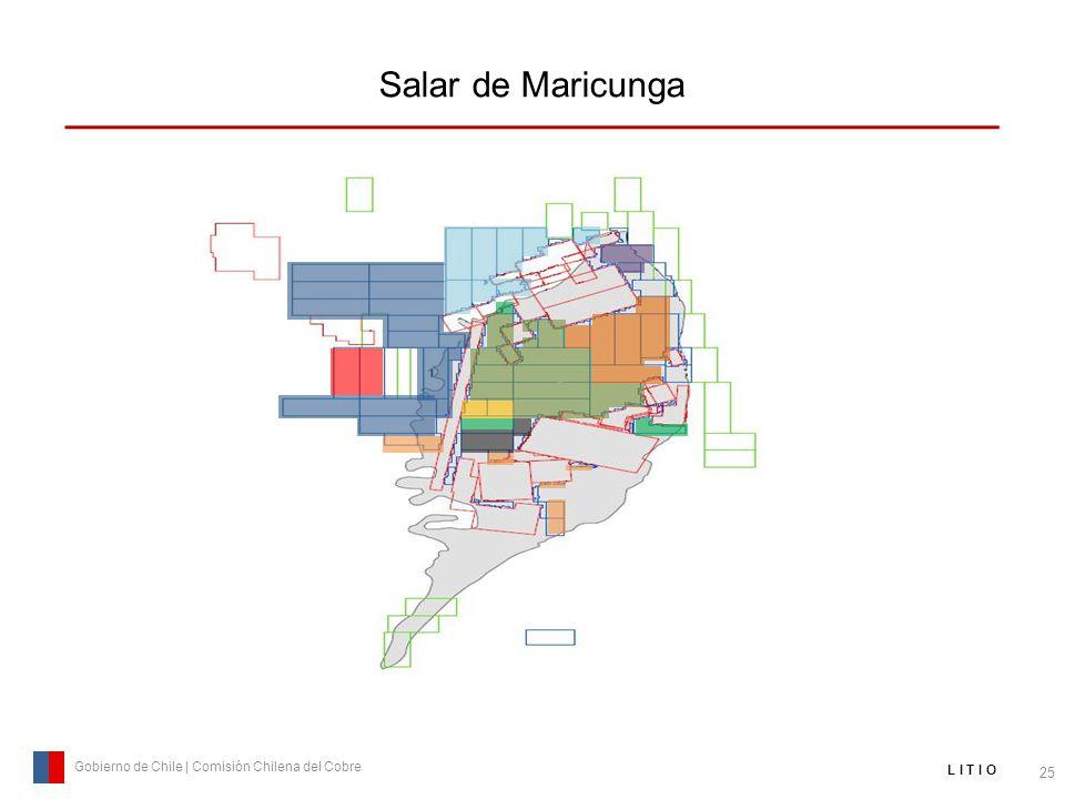 Salar de Maricunga 25 Gobierno de Chile | Comisión Chilena del Cobre L I T I O