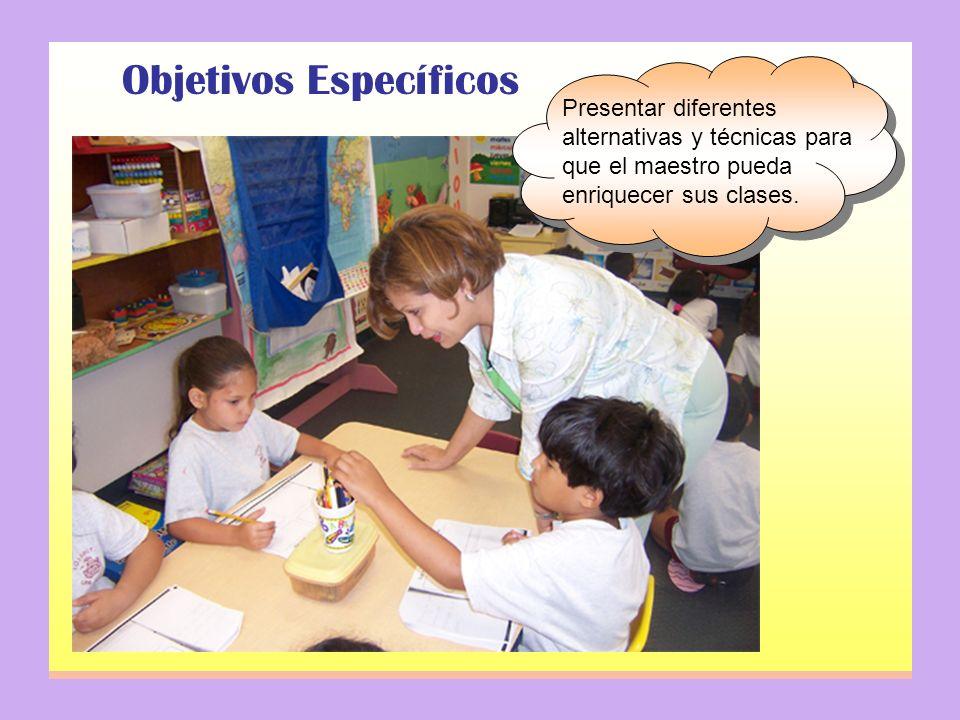 Objetivos Específicos Explicar la importancia de la participación del estudiante como elemento esencial en su aprendizaje.