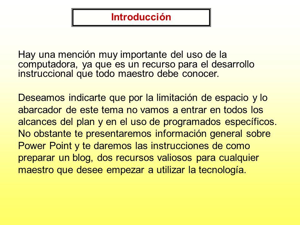 Introducción En este módulo vas a encontrar información relacionada con el uso de la tecnología en el diseño instruccional y el salón de clase. Presen