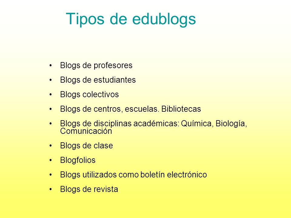 ¿Qué es un blog? Es un tipo de página web con unas características especiales: Las entradas, artículos o postsse publican en orden cronológico inverso