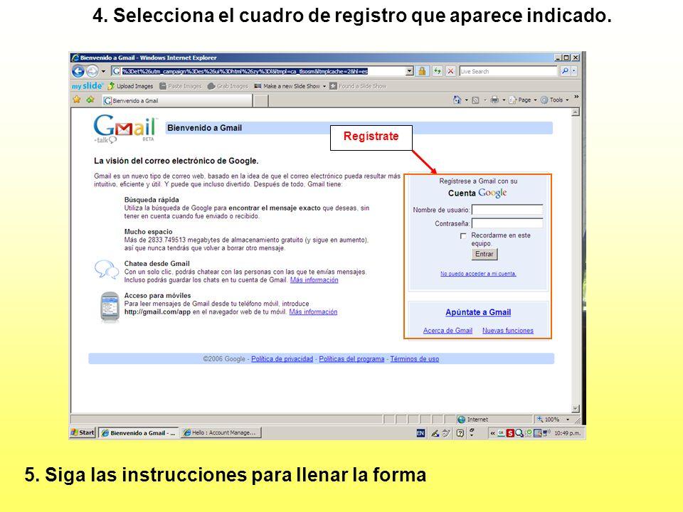 Seleccionar 3. Luego, seleccione la opción de GMail, como se ilustra: Como abrir una cuenta G-Mail