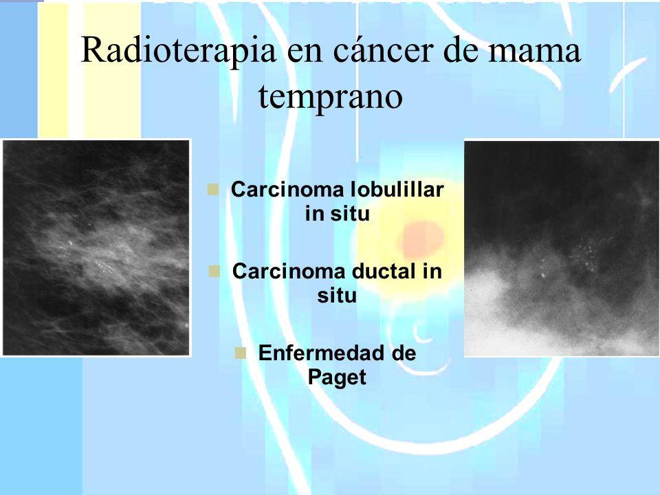 Menos del 15% de cáncer invasor Agresividad en variante pleomórfica Estrategias de tratamiento Seguimiento estrecho Mastectomía bilateral (casos seleccionados) Tamoxifeno y Raloxifeno NSABP-P1 y P2 56% reducción de cáncer invasor en pacientes con CLIS Carcinoma lobulillar in situ Borgen and Hill.