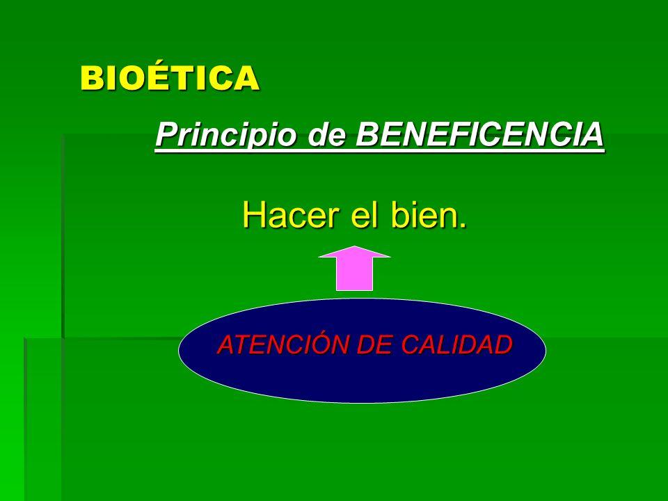 PRINCIPIOS FUNDAMENTALES DE LA BIOÉTICA BENEFICIENCIA NO MALEFICENCIA AUTONOMIA JUSTICIA