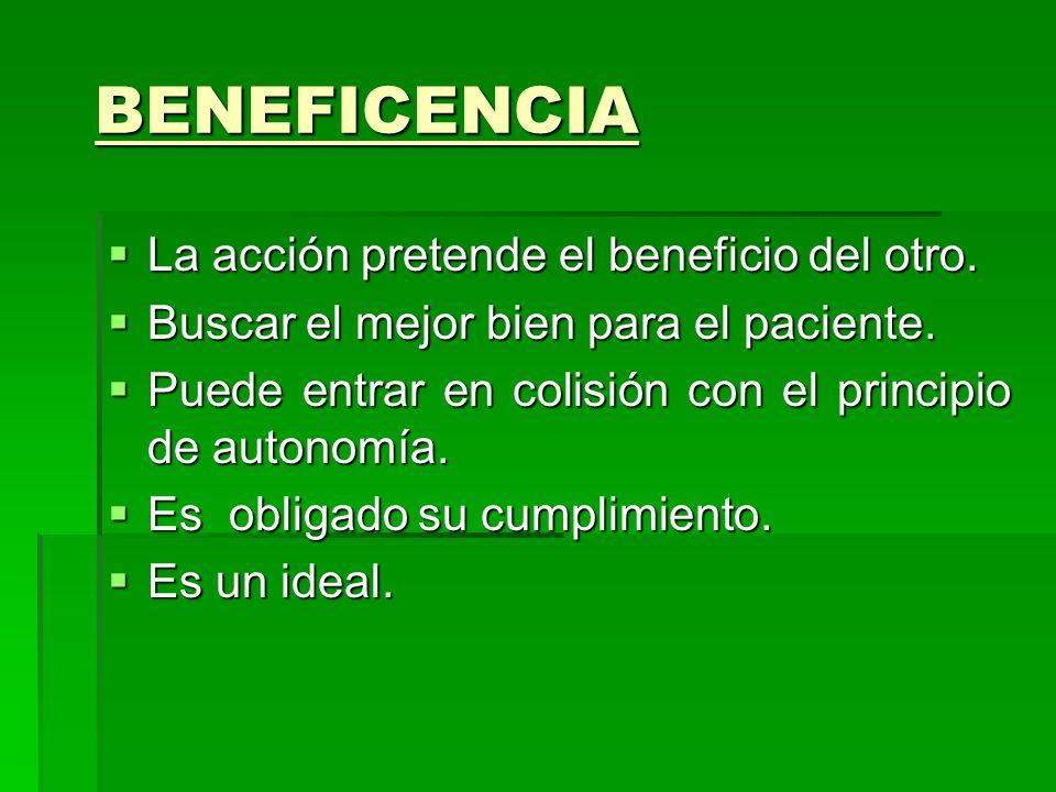 BIOÉTICA Principio de BENEFICENCIA Hacer el bien. Hacer el bien. ATENCIÓN DE CALIDAD